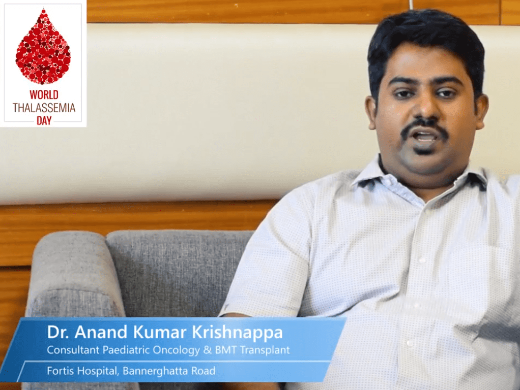 Dr Anand Krishnappa on World Thalassemia Day